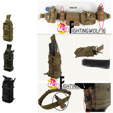 1000D Nylon Tactical Molle Pistol Holster Flashlight Torch Holder Magazine Pouch