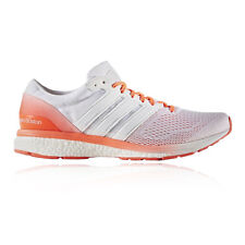 Adidas Adizero Boston 6 Mens White Sneakers Running Racing Shoes Trainers