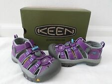 New KEEN Kids Newport H2 Waterproof Sandals Purple Blue Toddler Girls Size 10 11
