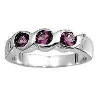Sterling Silver CZ Amethyst baby or pinky ring