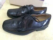CLARKS cushion cell MENS BLACK LEATHER LACE UP SHOES UK size 7
