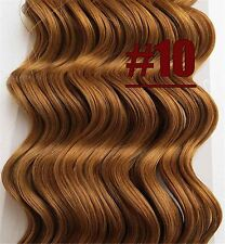 170g Curly Wavy Virgin Real Human Hair Extensions Clip In Deep Hair 16''~26''