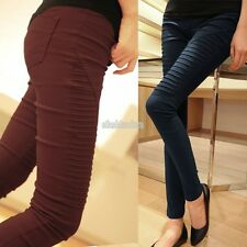 Women High Waist Pants Stretch Sexy Pencil Slim Fit Skinny Leggings Trousers EFF