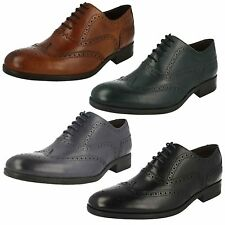 Mens Clarks Banfield Limit Leather Smart Lace Up Brogue Shoes G Fitting