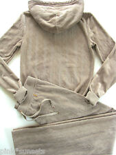 Juicy Couture Jacquard Track Velour Hoodie Pants Tracksuit JC Rope Small S