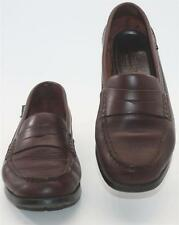 Eastland Women's 3288M Brown Leather Slip On Penny Loafer Size 6.5M Shoes