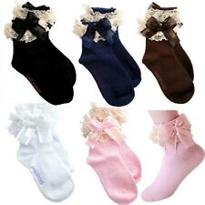 New Baby Girls Lace Ruffle Frilly Ankle Socks Sweet Princess Cotton Short Socks