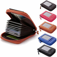 Mens/Womens Genuine Leather Wallet ID Credit Cards Holder Organizer Purse B