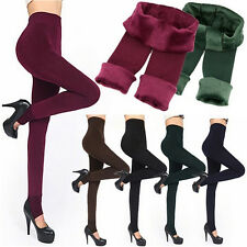 Women Thermal Thick Warm Fleece lined Fur Winter Tight Pencil Leggings Pants CA