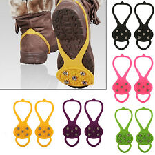 AntiSlip Ice Snow Shoes Spike Grip Strap Crampons Grippers Rock Fishing Climbing
