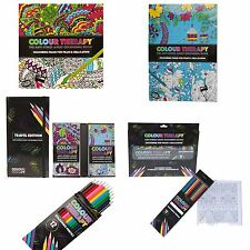 New Colour Therapy Adult Colouring Books Anti Stress Calm Relaxing Zen Art