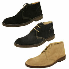 MENS LOAKE SAHARA LACE UP F FIT BROWN SUEDE DESERT ANKLE BOOTS SHOES