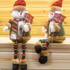 Cute Santa Claus Snowman Deer Idol Toy Ornaments Christmas Gift Xmas Home Decor