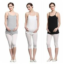 Womens Soft Pregnant Strappy Vest Tops Shirt Maternity Tank Top Camisole Cami