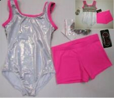 New Girls Leotard Shorts Set Child M L Dance Gymnastics Capezio Lot