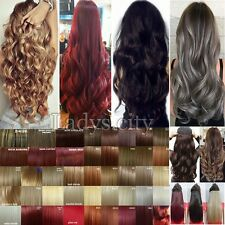 Real Natural Clip in Hair Extensions 1PC 5 Weft Real Thick Brown Gray Blonde Tk3