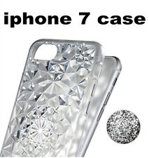 Luxury crystal diamond pattern TPU Silicon Soft Back Cover Case For iphone 7