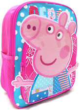 NEW LARGE BACKPACK BAG PINK PEPPA PIG KIDS GIRLS SCHOOL DAYCARE CHRISTMAS TOYS
