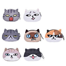 Children Gift Cat Face Coin Purse Kids Wallet Bag Change Pouch Key Holder UHx t