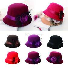 Fashion Ladies Womens Retro Vintage Trendy Wool Felt Derby Bowler Hat Cap NEW