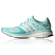 adidas Energy Boost 2 ESM Womens Blue Cushioned Running Sports Shoes Trainers