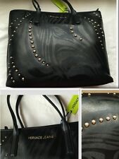 Versace Jeans Large Studded Embossed Faux Leather Tote Bag - RRP £190 GENUINE