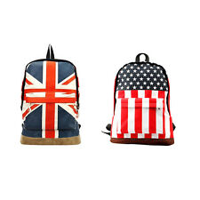 Flag Union Style Backpack Shoulder School Bag BackPack Canvas YTHi