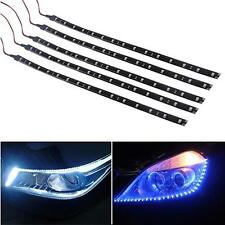 5 pcs 15 LEDs 30cm 5050 SMD LED Strip Light Flexible 12V Car Decor Waterproof SM