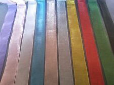 "Sheer Organza Ribbon 1""/25mm Wide Pink Yellow Purple Red Green Black White Blue"
