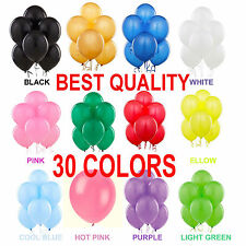 10 -100 Latex LARGE Helium Ballons Birthday ,Party High Quality Baloons Wedding