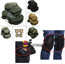 Protective Knee Pads Army Tactical Military Universal Elbow Pads Set Adjustable