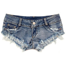 Sexy Women Mini Hot Pants Jeans Micro Shorts Denim Daisy Dukes Low Waist