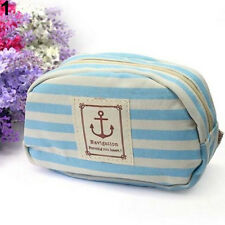 Navy Style Travel Cosmetic Bag Makeup Case Pouch Toiletry Zipper Pen Case Ornate