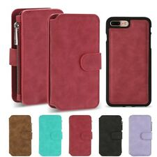 For iPhone 7 Plus Flip Wallet Case PU Leather Magnetic Card Slot Stand Cover