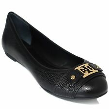 TORY BURCH Clines Logo Leather Ballet Flats