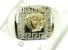 18k Gold Medusa Greek 316L Stainless Steel Ring Size 10