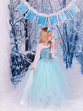 New Frozen Princess Clothes Anna Elsa Queen Girls Cosplay Costume Party Dresses!