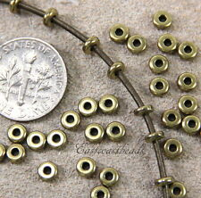 TierraCast, Heishi, Nugget, Spacer Beads, 4 mm, Antiqued Brass, 25 Pieces, 4027
