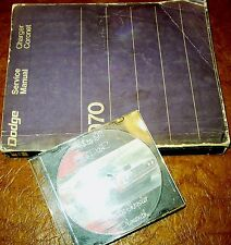 1970 Dodge Service Manual & Parts CD Superbee Charger R/T 500 Hemi Coronet