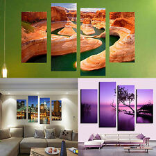 4 Pcs Frameless Canvas Painting Pictures Freehand Living Room Art Decor Glorious