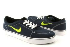 New Nike Navy Blue /Lime Green Canvas Lace On Mens Fashion Sneakers