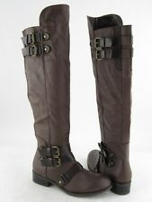 New Dolce Vita Landrie Brown 4 Buckle Over Knee Boots Women's RTL $119