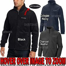 Columbia Mens Full Zip POLAR FLEECE Jacket Zip Pockets S-XL, 2XL, 3XL NEW!