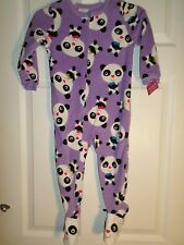 L@@K!  Carters One-Piece Panda Bear Fleece Pajamas   Size 2T Toddler Girl's