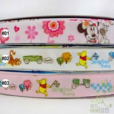 "5/8""16mm Mixed  Mickey/Winnie/Tiger Cartoon Grosgrain Ribbon 2 Yard 10 Yard"