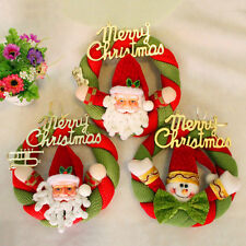 Friendly Santa Welcome Christmas Door Wall Wreath Hanging Xmas Decoration