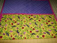 Pick a Color-QT-Cute as a Bug-Handmade-X Large Travel Baby Changing Mat-USA Made