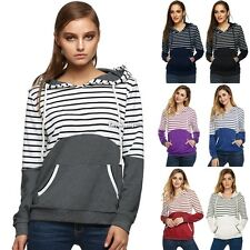 Women Long Sleeve Hoodie Sweatshirt Sweater Casual Hooded Coat Pullover Tops