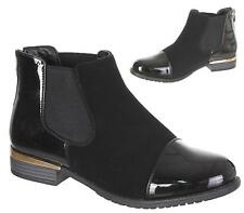 WOMENS SLIP ON ZIP FLAT CHELSEA ANKLE BOOTS FASHION SMART LADIES PIXIE SHOE SIZE