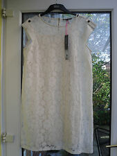 MARKS AND SPENCER LADIES CREAM LACE DRESS